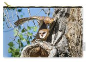 Barn Owl Owlet Stretches High Carry-all Pouch