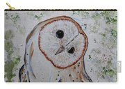 Barn Own Impressionistic Painting Carry-all Pouch