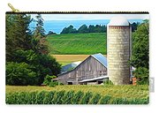Barn Silo And Crops In Nys Expressionistic Effect Carry-all Pouch