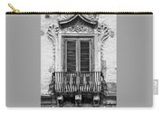 Baroque Balcony Window. Messina, Sicily.    Black And White Carry-all Pouch