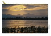 Barr Lake Spring Sunset Carry-all Pouch by Cascade Colors