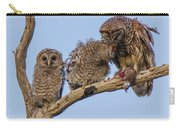 Barred Owl Family Carry-all Pouch
