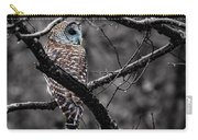 Barred Owl Hungry  Carry-all Pouch
