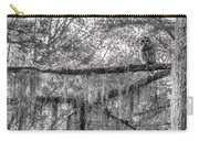 Barred Owl In Monochrome Carry-all Pouch