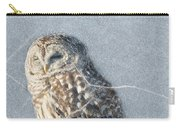 Barred Owl In The Snowstorm Carry-all Pouch