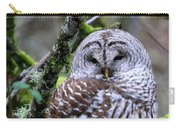 Barred Owl In Tree Carry-all Pouch