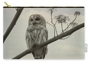 Barred Owl On A Tree Carry-all Pouch