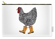 Barred Rock With Boots Carry-all Pouch