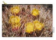 Barrel Cactus Flowers 2 Carry-all Pouch