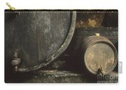 Barrels Of Wine In A Wine Cellar. France Carry-all Pouch