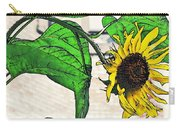 Barrio Sunflower Carry-all Pouch by Sarah Loft