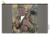 Barry Sadler With Machine Gun On His Shoulder Tucson Arizona 1971-2015 Carry-all Pouch