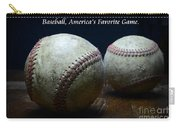 Baseball Americas Favorite Game Carry-all Pouch