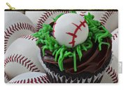 Baseball Cupcake Carry-all Pouch by Garry Gay