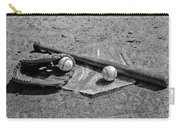 Baseball Game In Black And White Carry-all Pouch