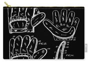 Baseball Glove Patent 1910 In Black Carry-all Pouch