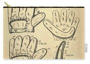 Baseball Glove Patent 1910 Sepia Carry-all Pouch