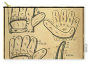 Baseball Glove Patent 1910 Sepia With Border Carry-all Pouch