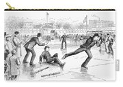 Baseball On Ice, 1884 Carry-all Pouch by Granger