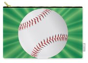 Baseball Over Green Carry-all Pouch
