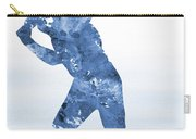 Baseball Player-blue Carry-all Pouch