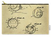Baseball Training Device Patent 1961 Sepia Carry-all Pouch