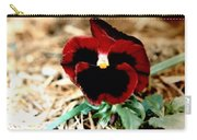Bashful Pansy Carry-all Pouch