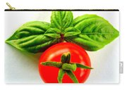 Basil And Cherry Tomato Carry-all Pouch