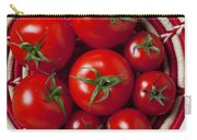 Basket Full Of Red Tomatoes  Carry-all Pouch
