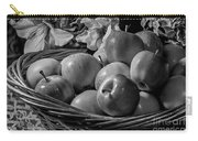 Basket Of Apples Bw Carry-all Pouch