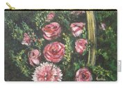 Basket Of Pink Flowers Carry-all Pouch