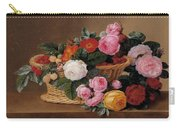 Basket Of Roses Carry-all Pouch