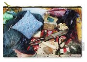 Basket Of Sewing Supplies Carry-all Pouch