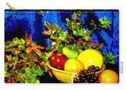 Basket With Fruit Carry-all Pouch