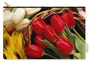 Basket With Tulips Carry-all Pouch