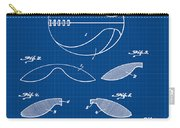 Basketball Patent 1916 Blue Print Carry-all Pouch