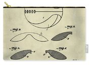 Basketball Patent 1916 Faded Grunge Carry-all Pouch