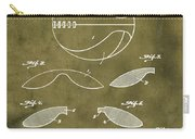 Basketball Patent 1916 Grunge Carry-all Pouch