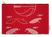 Basketball Patent 1916 Red Carry-all Pouch