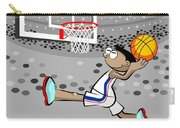 Basketball Player Jumping And Flying To Shoot The Ball In The Hoop Carry-all Pouch