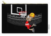 Basketball Player Jumping In The Stadium And Flying To Shoot The Ball In The Hoop Carry-all Pouch
