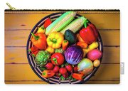 Basketful Of Fresh Vegetables Carry-all Pouch