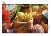 Baskets Of Yarn At Flea Market Carry-all Pouch