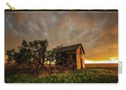 Basking In The Glow - Old Barn At Sunset In Oklahoma Panhandle Carry-all Pouch