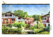 Basque Houses In Ainhoa 2- Vintage Version Carry-all Pouch