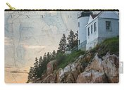 Bass Harbor Lighthouse On Maine Nautical Chart Carry-all Pouch