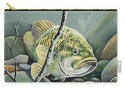 Bass In Rocks Carry-all Pouch