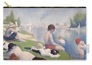 Bathers At Asnieres Carry-all Pouch by Georges Pierre Seurat