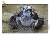 Bathing Osprey In Shallow Water Carry-all Pouch