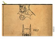 Batman Cowl Patent In Sepia Carry-all Pouch